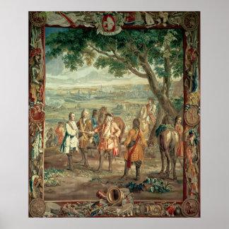 Duque de Marlborough en la caída de Lille en dicie Impresiones