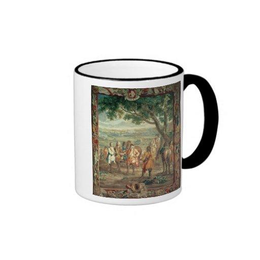Duque de Marlborough en la caída de Lille en dicie Tazas De Café