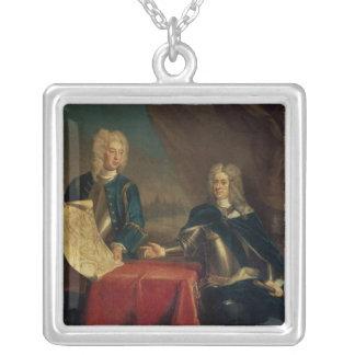 Duque de Marlborough que discute planes Colgante Cuadrado