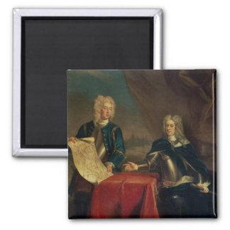 Duque de Marlborough que discute planes Imán Cuadrado