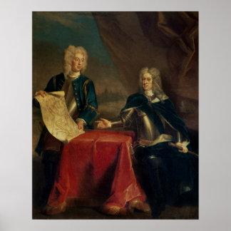 Duque de Marlborough que discute planes Impresiones