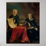 Duque de Marlborough que discute planes Póster