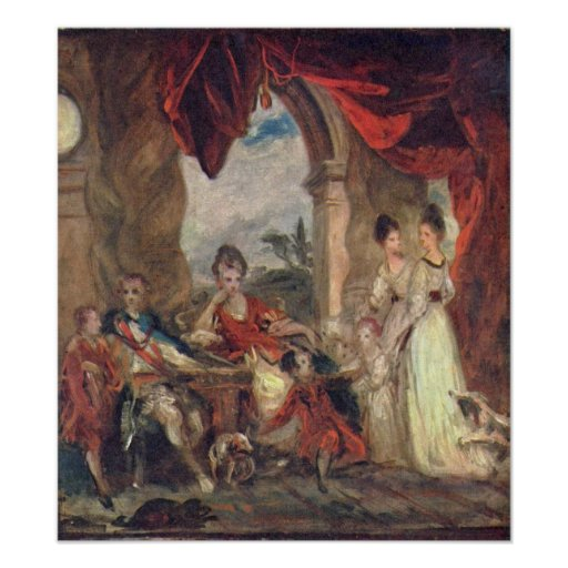 Duque de Marlborough y familia de Joshua Reynolds Impresiones