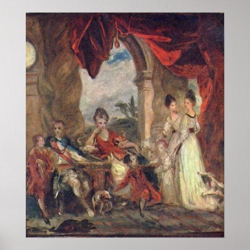 Duque de Marlborough y familia de Joshua Reynolds Póster