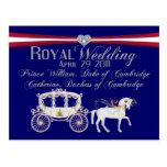 Duque del boda y duquesa reales de Cambridge Postc Postales