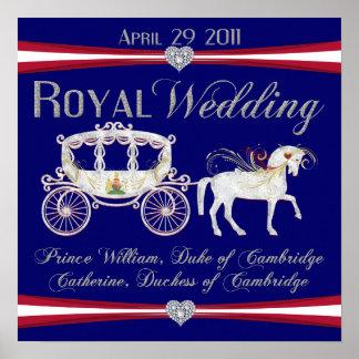 Duque del boda y duquesa reales de la impresión de posters