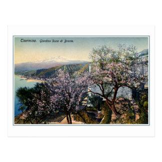 Duque del jardín de Sicilia del vintage de Bronte Postal