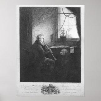 Duque Esterhazy Playing el Clarinet, 1809 Poster