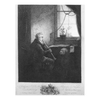 Duque Esterhazy Playing el Clarinet 1809 Postal