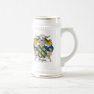 Duque Family Crest Beer Stein