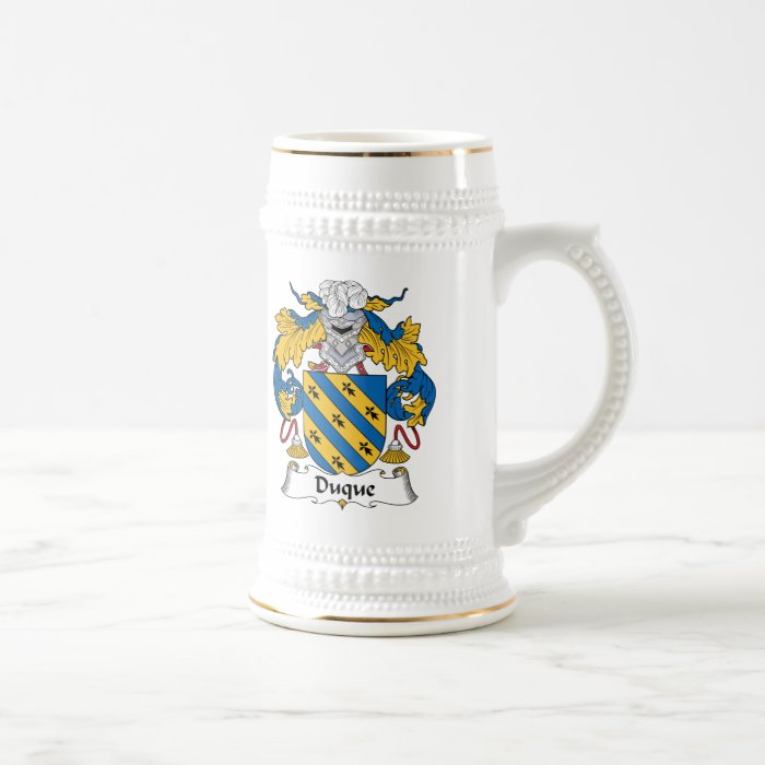 Duque Family Crest Beer Stein