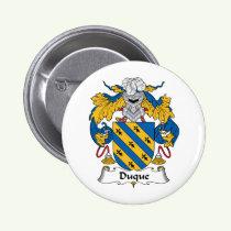 Duque Family Crest Button