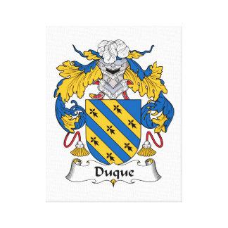 Duque Family Crest Canvas Print