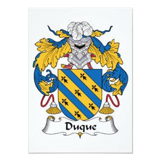 Duque Family Crest Card