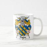Duque Family Crest Classic White Coffee Mug