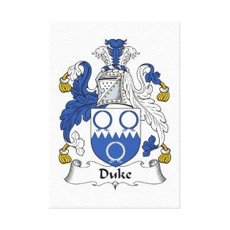 Duque Family Crest Impresión En Lona Estirada