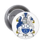 Duque Family Crest Pins