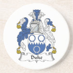 Duque Family Crest Posavasos Diseño
