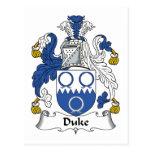 Duque Family Crest Postal
