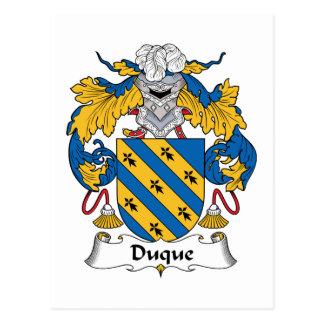 Duque Family Crest Postcard