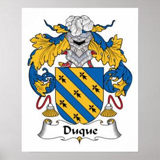 Duque Family Crest Print