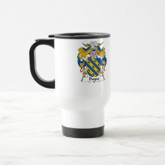 Duque Family Crest Travel Mug