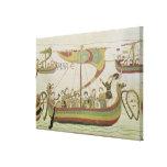 Duque Guillermo de Normandía cruza el mar Lona Envuelta Para Galerias