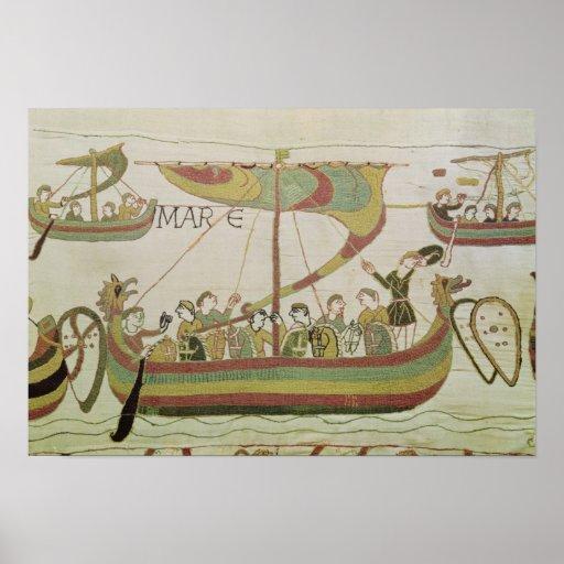 Duque Guillermo de Normandía cruza el mar Póster