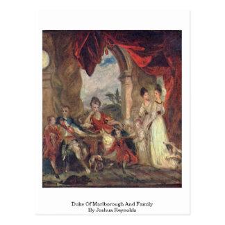 Duque Of Marlborough y familia de Joshua Reynolds Tarjeta Postal