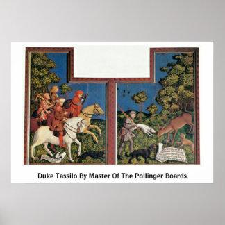Duque Tassilo By Master Of los tableros de Polling Poster