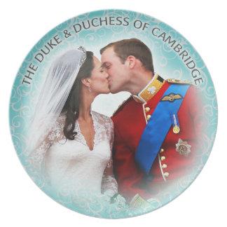 Duque y duquesa de la placa de Cambridge Plato De Cena
