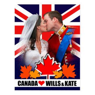 Duque y duquesa de la postal de Cambridge Canadá