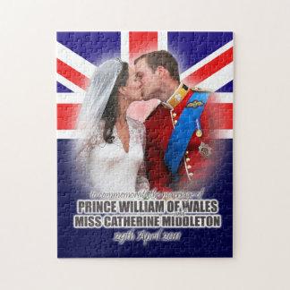 Duque y duquesa del rompecabezas del boda de Cambr