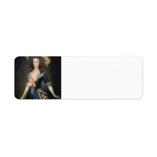Duquesa Countess de Francisco Goya- de Benavente Etiqueta De Remite