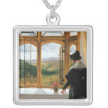 Duquesa de Abercorn que mira fuera de una ventana Colgante Cuadrado