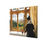 Duquesa de Abercorn que mira fuera de una ventana Lona Estirada Galerias