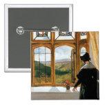 Duquesa de Abercorn que mira fuera de una ventana Pin Cuadrada 5 Cm