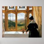 Duquesa de Abercorn que mira fuera de una ventana Póster
