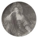 Duquesa de Barbara de Cleaveland (1641-1709) como  Plato De Comida