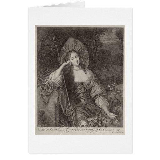 Duquesa de Barbara de Cleaveland (1641-1709) como  Tarjeta De Felicitación