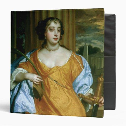 """Duquesa de Barbara Villiers de Cleveland Carpeta 1 1/2"""""""