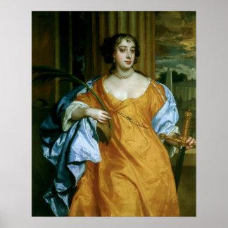 Duquesa de Barbara Villiers de Cleveland Posters
