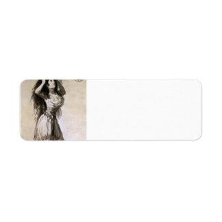 Duquesa de Francisco Goya- de Alba arreglando su p Etiqueta De Remitente