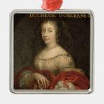 Duquesa de Henrietta Anne de Orleans Adorno Navideño Cuadrado De Metal