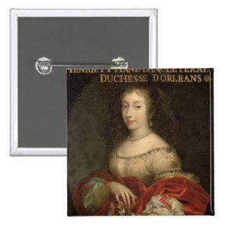 Duquesa de Henrietta Anne de Orleans Pin Cuadrado
