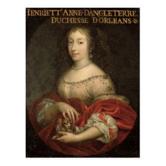 Duquesa de Henrietta Anne de Orleans Postal