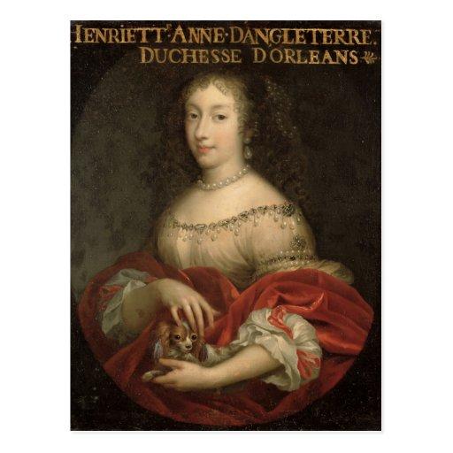 Duquesa de Henrietta Anne de Orleans Tarjetas Postales