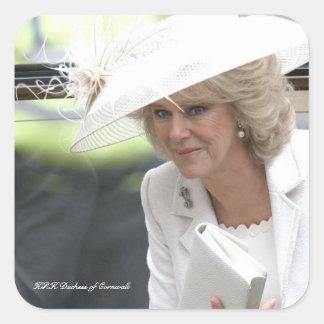 Duquesa de HRH de Cornualles Pegatina Cuadrada