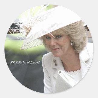 Duquesa de HRH de Cornualles Pegatina Redonda