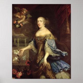 Duquesa de los d'Orleans de Ana María de Montpensi Poster